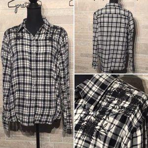 Chaps - Sz XL - plaid button down shirt - special